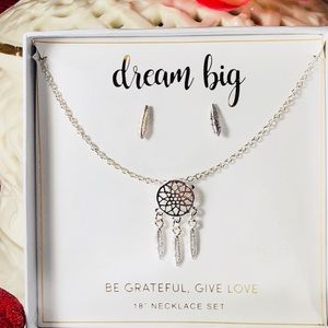 New set of dream catcher Necklace and Earring set